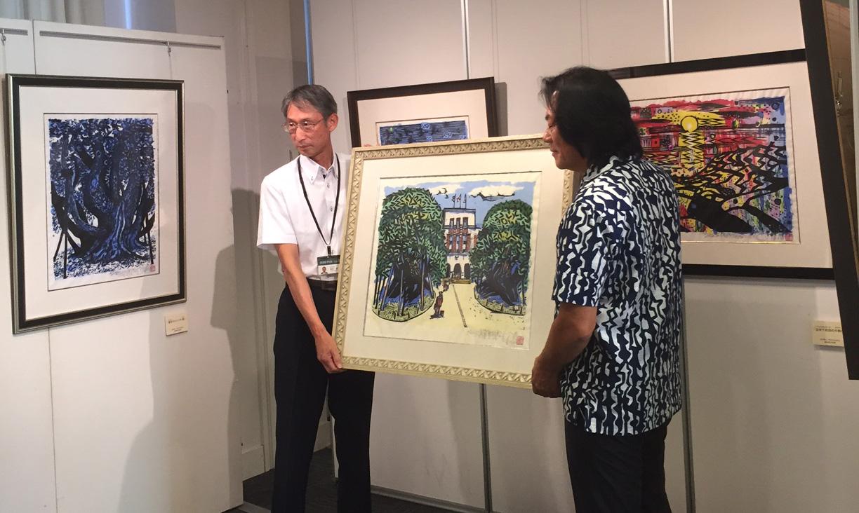 石川県金沢市しいのき迎賓館にて「ボクネン作品贈呈式」…